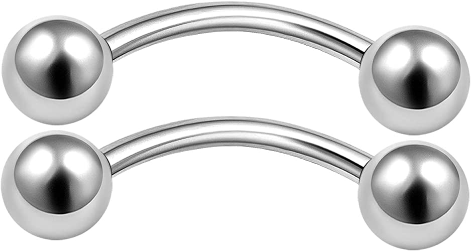 1.2mm 316L Labret Helix Cartilage Tragus Lip Bar  Body Jewelry  16 Gauge