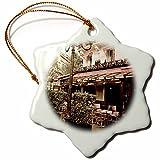 3dRose Danita Delimont - France - Le Metro Restaurant, Left Bank, Paris, France - 3 inch Snowflake Porcelain Ornament (orn_257633_1)