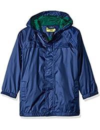 Western Chief Boys Rain Coat, Solid Navy, 5