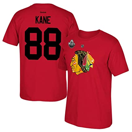 25a73b20b06 Image Unavailable. Image not available for. Color: adidas Patrick Kane  Reebok Chicago Blackhawks 2017 Winter Classic Jersey T-Shirt Men's
