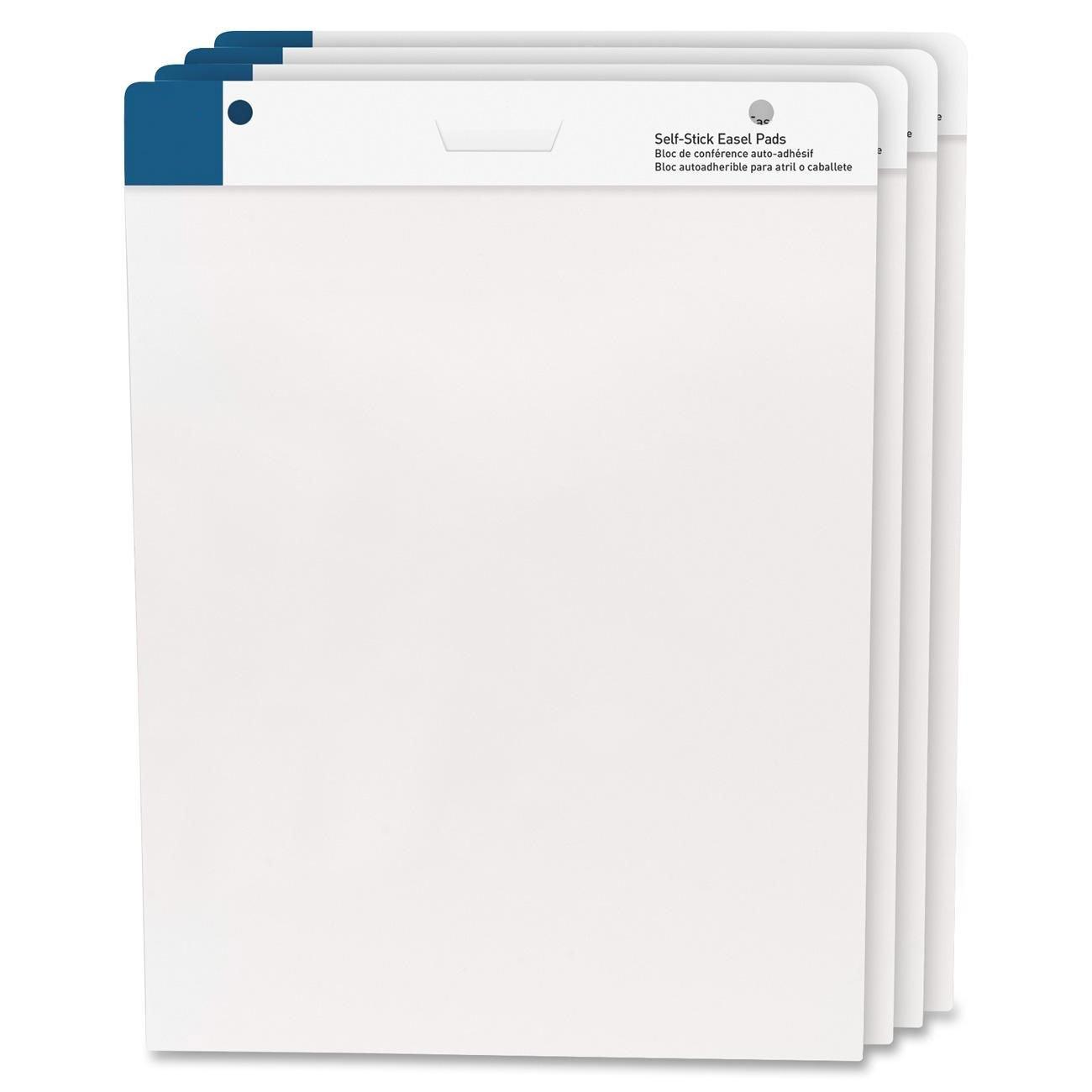 MyOfficeInnovations 3254370 Self-Stick Easel Pads 25''x30'' 30 Shts/Pad 4/PK White