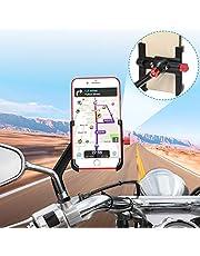 "Motorrad Handyhalterung Aluminium, 360° Drehbar Motorrad Telefonhalter, Handyhalter fürs Motorrad Rückspiegel, Handyhalterung Motorrad Universal für iPhone Samsung Huawei(4-6.8"")"