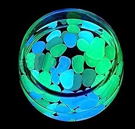 ZHJZ® - Piedras luminosas para adornos de yarda, pecera, decoración de tanque (