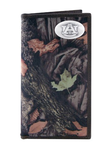 NCAA Auburn Tigers Zep-Pro Fencerow Nylon Long Secretary Concho Wallet, Camouflage Auburn Tigers Leather Football