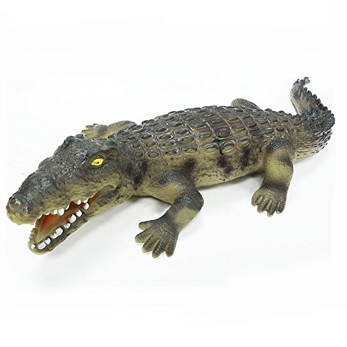 BESTLEE Large Grey Alligator Toy Figures For Kids Crocodile Toy Action Figures 23.2 x 3.3 inches -