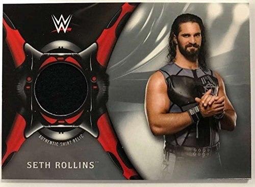 2018 Topps Road to WrestleMania Shirt Relics Silver #SR-SR Seth Rollins NM-MT MEM /25 from Road to WrestleMania