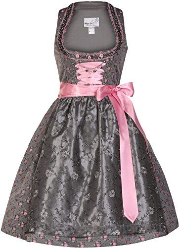 Dirndl mini 57 cm Terry grau/pink Marjo