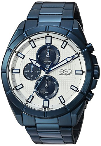 ESQ Men's Quartz Stainless Steel Casual Watch, Color:Blue (Model: 37ESQE13501A) - Esq Quartz Watch