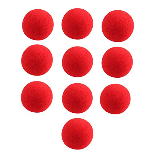 Gogoforward 10 PCS Red Sponge Soft Ball Close-Up Magic Street Classical Comedy Trick Props 2.5cm