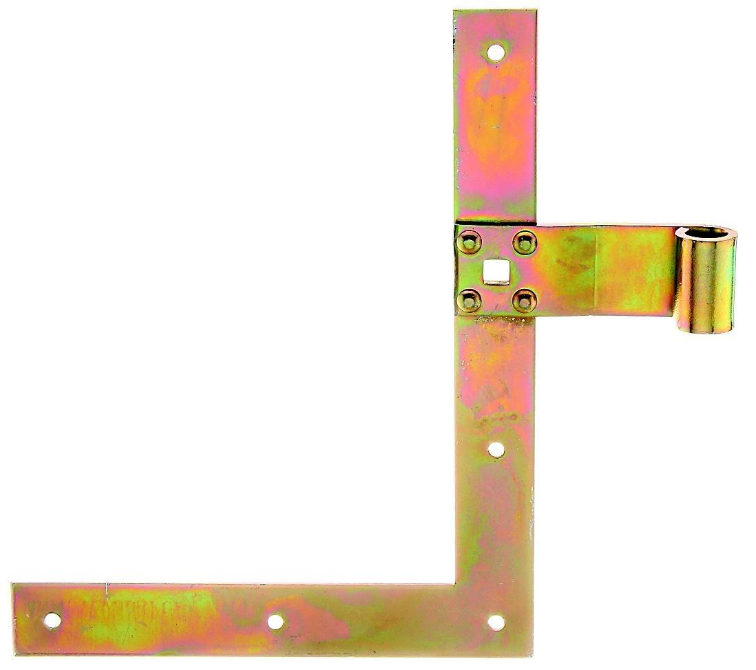 GAH-Alberts 313326 Fensterladen-Winkelband, gerade, Abschluss gerade, oben, galvanisch gelb verzinkt, 250 x 200 x 30 mm, Rolle: Ø 13 mm Gust. Alberts GmbH & Co.KG