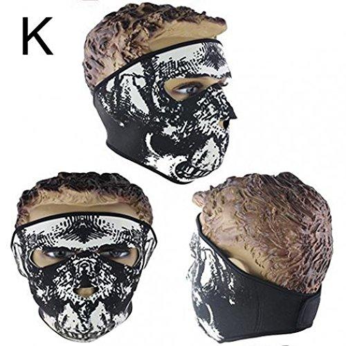 Skull Shaped Motorcycle Helmet - 6