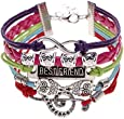 Young & Forever Inspirational Best Friend Owl Infinity Music Wrap Bracelet For Boys Girls B321
