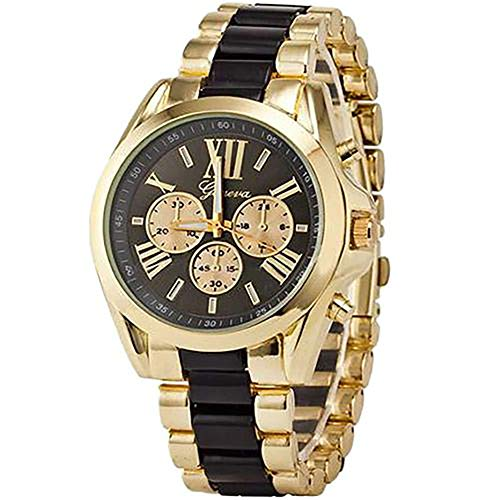 Men's Watch, Stunning Geneva Stainless Steel Quartz Analog Wrist Watch, Gift for Men(Black) - Ahmedy Wrist Watch
