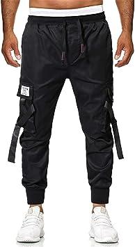 FANOUD Men Pants Trousers Pant Boy Hip Hop Trunks Gym Cargo Hiphop Dance Jogger Harem Pants