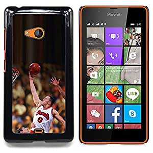 - Raiser 8 Basketball - - Cubierta del caso de impacto con el patr??n Art Designs FOR Microsoft Nokia Lumia 540 N540 Queen Pattern