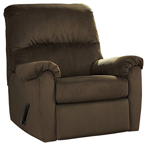 - Ashley Furniture Signature Design - Bronwyn Swivel Glider Recliner - Contemporary Reclining Couch - Cocoa Brown