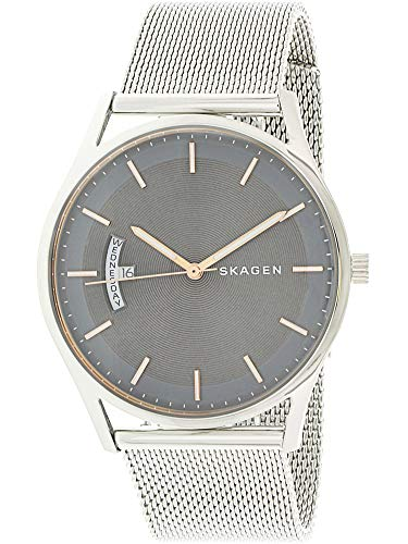 Skagen Men's Holst Quartz Stainless Steel Mesh Casual Watch, Color: Silver-Tone (Model: SKW6396)