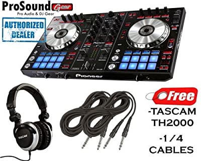 Pioneer DDJ Series DDJ-SR Digital Performance DJ Controller + FREE TASCAM TH-2000-R Professional Headphones + FREE Cables