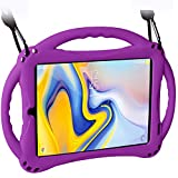 TopEsct Case for Samsung Galaxy Tab A 8.0(2018) SM-T387, Silicone Kids Shock Proof Convertible Handle Protective Cover Compatible with Samsung Galaxy Tab A 8.0 Inch 2018 Release Tablet (Purple)