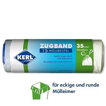 Kerl 4003450030463 - Bolsas de basura (35 L, 15 unidades ...