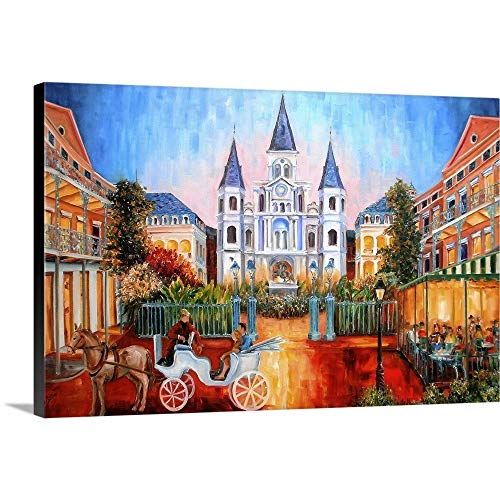 The Hours on Jackson Square Canvas Wall Art Print, 36