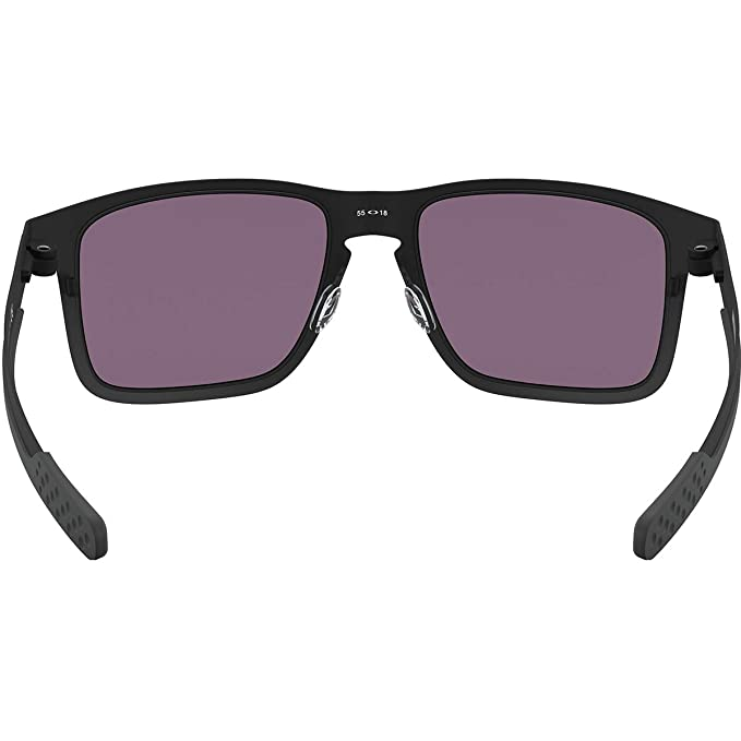 50159580f6cf9 Amazon.com  Oakley Men s Holbrook Metal Non-Polarized Iridium Square  Sunglasses MATTE BLACK 55.0 mm  Oakley  Clothing