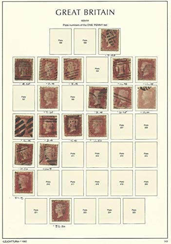 Great Britain Stamp Collection on Lighthouse Page 1858-64, 33, SCV $215