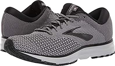 Brooks Men's Revel 2, Black/White, 8 D