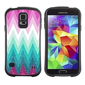 Suave TPU GEL Carcasa Funda Silicona Blando Estuche Caso de protección (para) Samsung Galaxy S5 / CECELL Phone case / / Zig Zag Purple Hills Pattern /