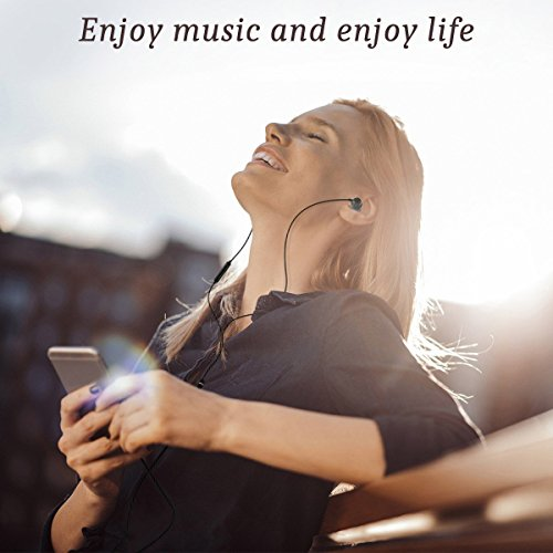 Earphones in Ear Headphones Earbuds with Microphone Mic Stereo and Volume Control Waterproof Wired Earphone for iPhone Samsung Android Mp3 Players Tablet Laptop 3.5mm Audio Black by KURSO (Image #1)