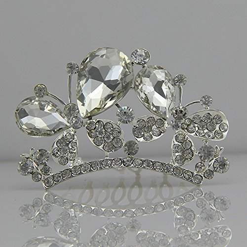 - Generic Fly Butterfly diamond bridal jewelry crystal models small crown tiara comb / crown tiaras / bridal headdress hair bands / hair accessories