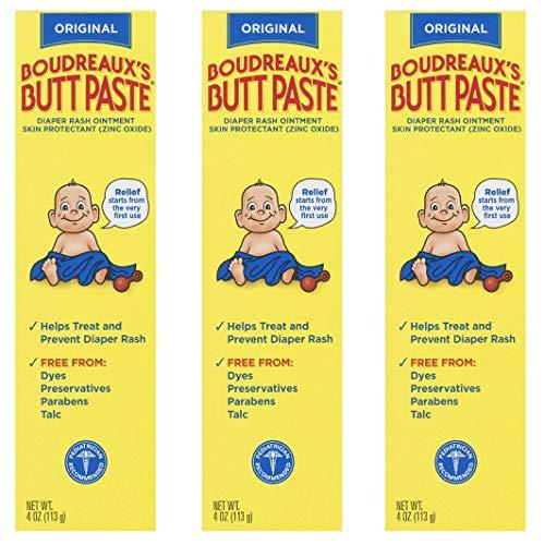 Boudreauxs Butt Paste Diaper Rash Ointment  | Original | 4 Oz | Pack of 3