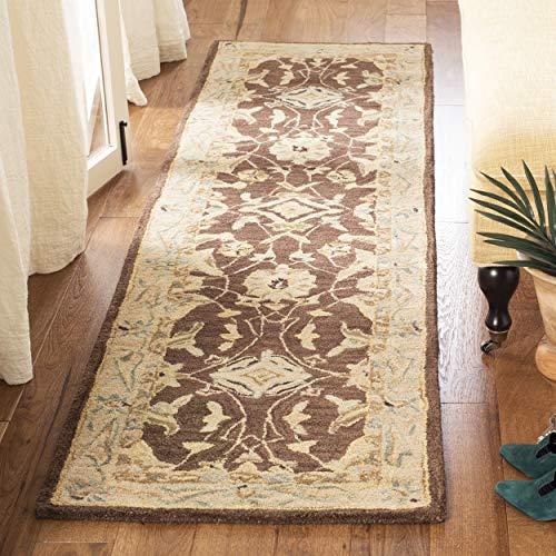 Safavieh Anatolia Collection AN545B Handmade Traditional Oriental Brown and Tan Wool Runner (2'3