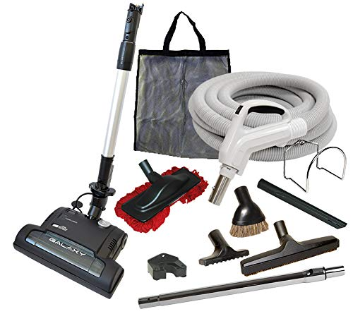 Alder Products Ltd. Galaxy Deluxe Central Vacuum Kit with Hose, Power Head & Wands - Works with All Brands of Central Vacuum Units (35', Black)