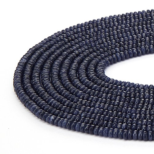BRCbeads Sapphire Gemstone Faceted Rondelle