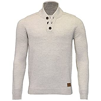 73f2b0280f8 Threadbare Hommes Laine mélange Sweatshirt Pull Tricot col Châle Pull Hiver  - Farine d Avoine