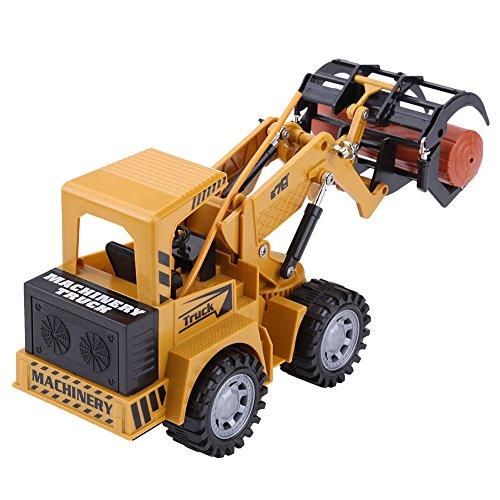 RC 5チャンネル エンジニアリングトラック 木材ロギングかー  多機能  リモートコントロール 工事トラック 玩具  USB充電 砂場 建設車両 モデル子供 少年 玩具