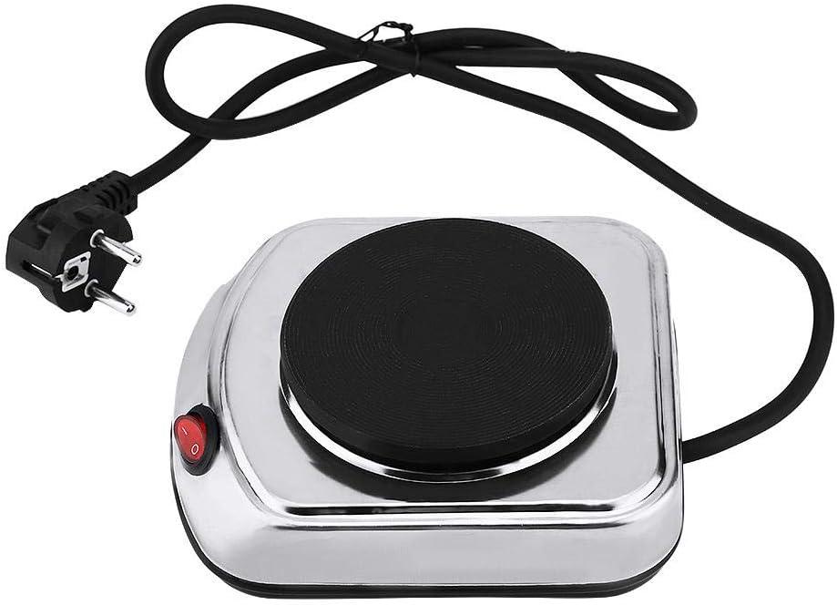 Garosa Quemador De Estufa Eléctrica Mini Placa Calefactora Estufa De Café Calentador De La Cocina Campamento Viajes Electrodomésticos Pequeños para Cocinar (Enchufe De La UE 220-240V)