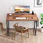 CubiCubi-Study-Computer-Desk-40-Home-Office-Writing-Small-Desk-Modern-Simple-Style-PC-Table-Black-Metal-Frame-Deep-Brown