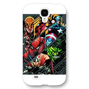 UniqueBox Customized Marvel Series Case for Samsung Galaxy S4, Marvel Comic Hero The Avengers Samsung Galaxy S4 Case, Only Fit for Samsung Galaxy S4 (White Frosted Case) wangjiang maoyi by lolosakes