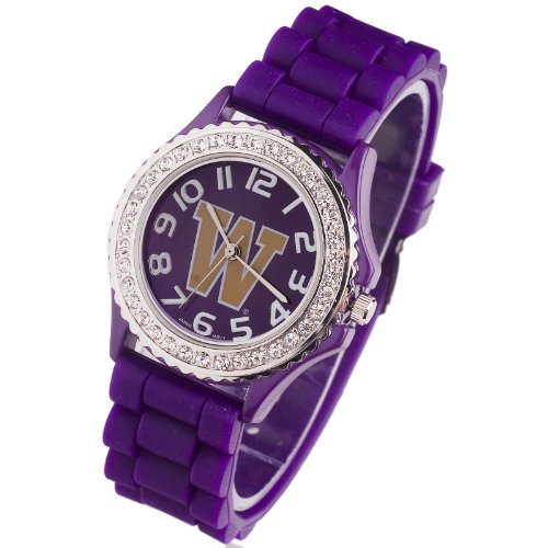 WASHINGTON UNIVERSITY HUSKIES WATCH-WASHINGTON UNIVERSITY LADIES JELLY WATCH