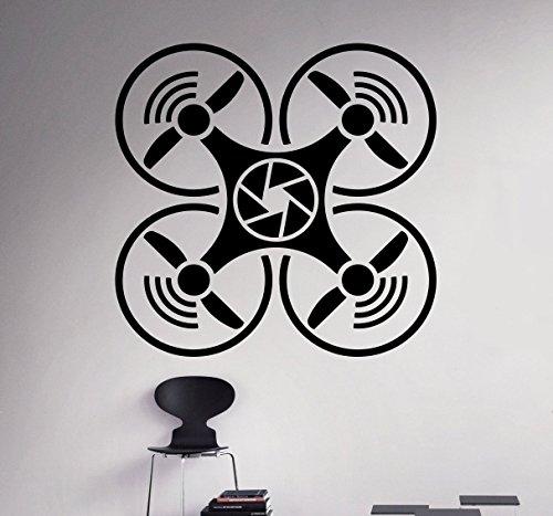 Drone Aircraft Wall Vinyl Decal Air Quadcopter Wall Sticker Aircraft ...