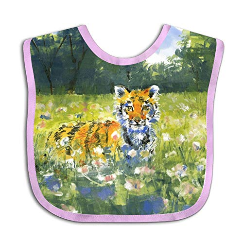 Unisex Baby Bibs Garden Tiger Toddler Baby Shower gift