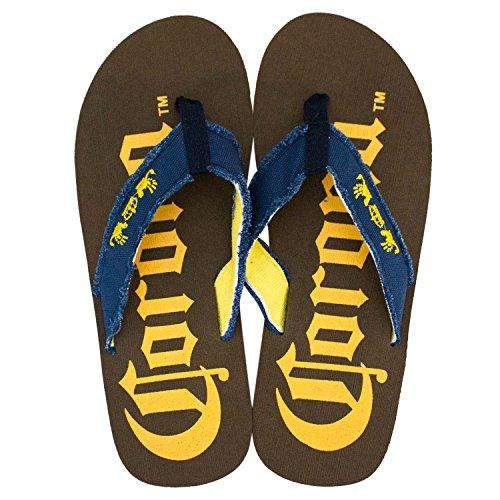 Corona Extra Men's Big Logo Flip Flops 14 Corona Flip Flops