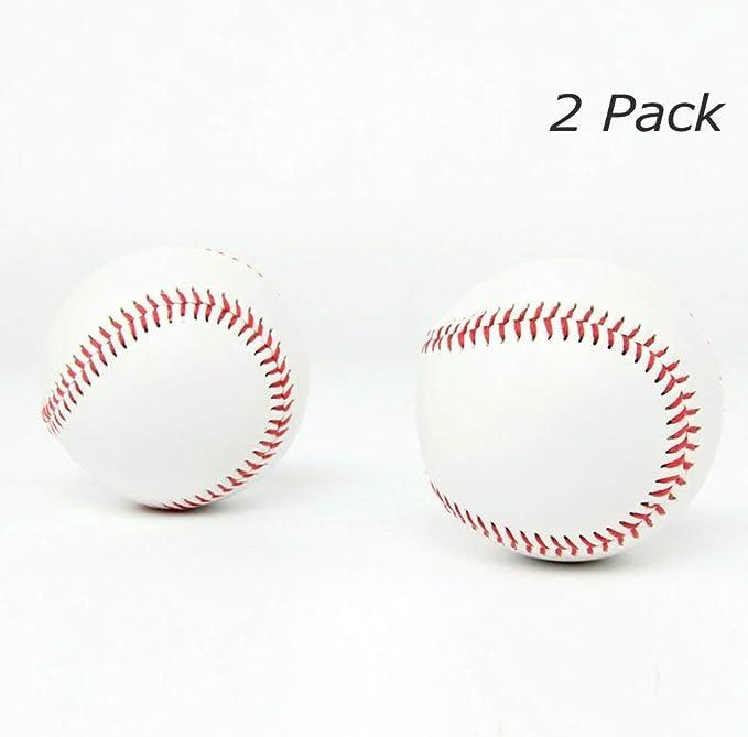 SOWOFA - Balón de béisbol 9 Pelotas Suaves de Entrenamiento con Relleno Suave para aplicar aleación de béisbol de 22,86 cm de Circunferencia de béisbol Cosido a Mano (Paquete de 2): Amazon.es: