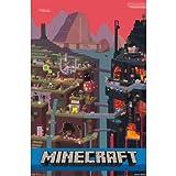 "Trends International Minecraft Cube 墙壁海报 56.7 cm x 86.4 cm A 22"" by 34"" AC FP6014A"