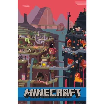 Amazon.com: Trends International Minecraft Cube Wall Poster 22.375 ...