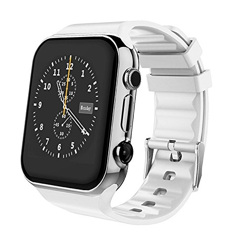 Scinex SW20 Smart Watch for Android and iPhone with 16GB Memory, Pedometer Smartwatch for Men