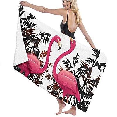 LXXYZ Flamingle Prints Bath Towel Wrap Womens Spa Shower and Wrap Towels Swimming Bathrobe Cover Up for Ladies