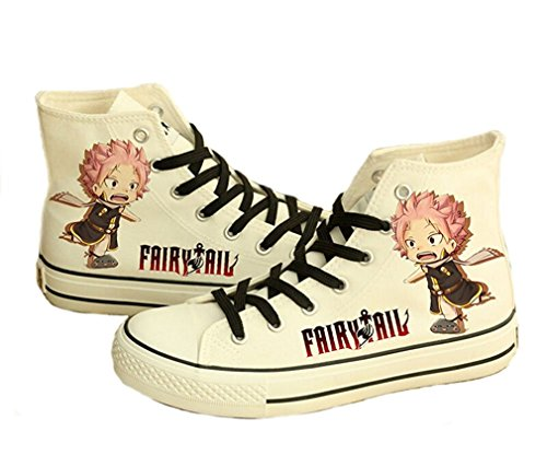 Bromeo Fairy Tail Unisexe Toile Salut-Top Sneaker Baskets Mode Chaussures